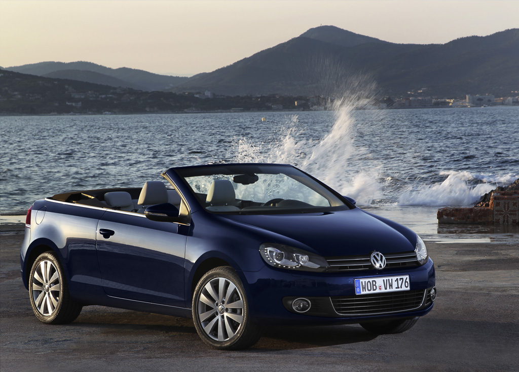 vw golf 6 cabrio ein cabriolet von vw mit stoffdach so. Black Bedroom Furniture Sets. Home Design Ideas