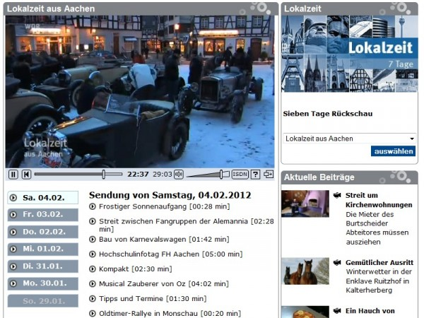 WDR Mediathek Screenshot