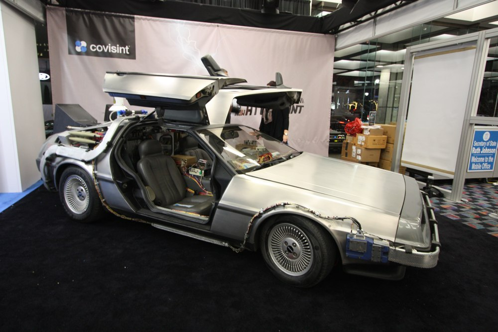 naias 2014 dmc delorean filmauto zur ck in die zukunft rad. Black Bedroom Furniture Sets. Home Design Ideas