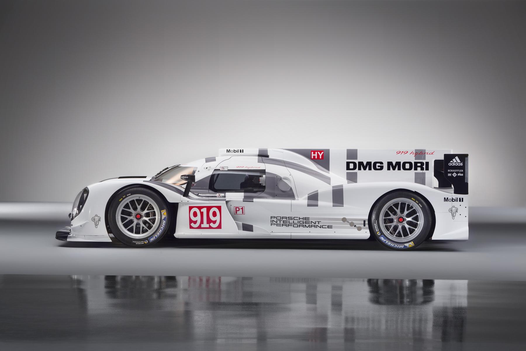 2014-Porsche-Motorsport-Porsche-919-Hybrid-Profile-Left