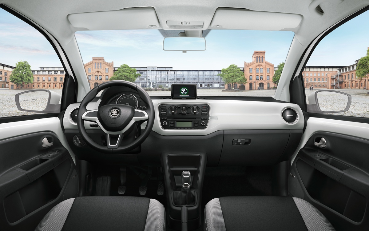 skoda-citigo-cool-edition-sound-innenraum-weiss