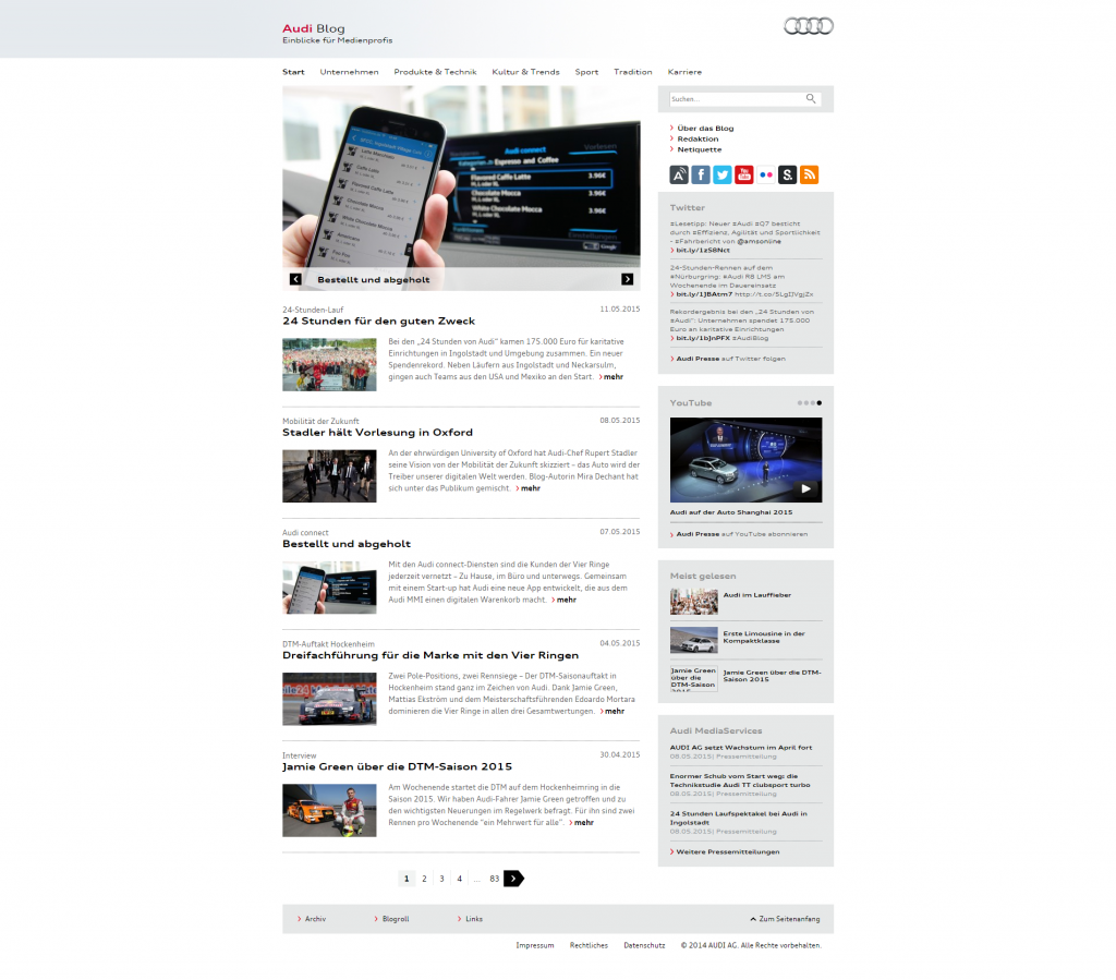 Audi Blog