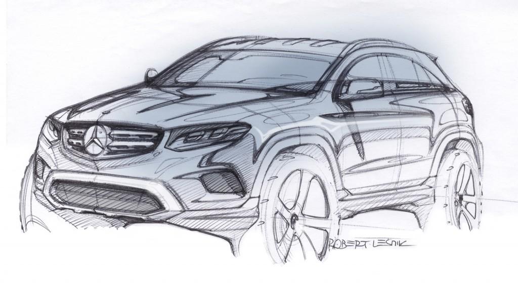 Mercedes-Benz GLC (X 253) 2015, Designskizzen