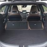 Mercedes-Benz CLA Shooting Brake Kofferraum komplett umgeklappt