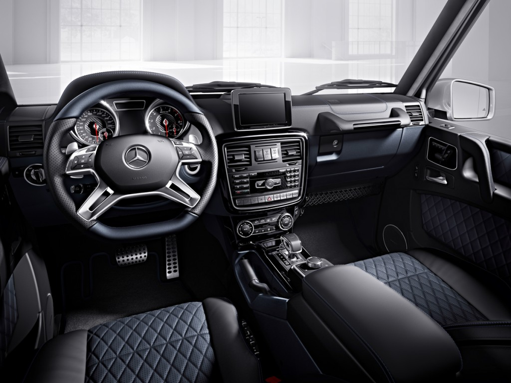 Mercedes-Benz G-Klasse, designo manufaktur, Interieur: designo Leder tiefseeblau/schwarz Mercedes-Benz G-Klasse, designo manufaktur, interior: designo leather deep-sea blue/black