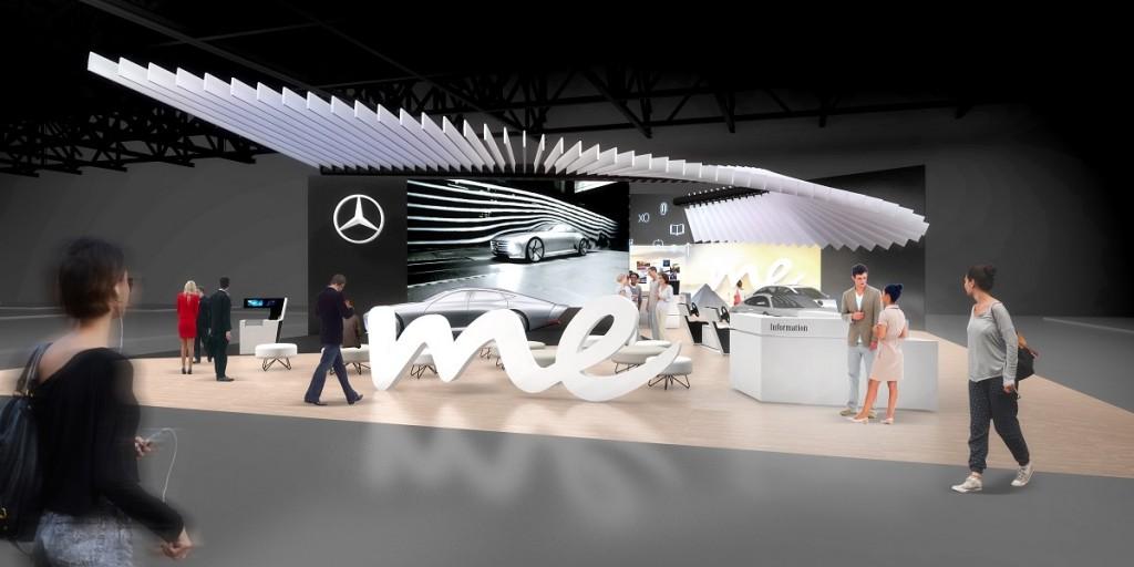 Mercedes-Benz Stand auf der CE  //  Mercedes-Benz booth on the CES