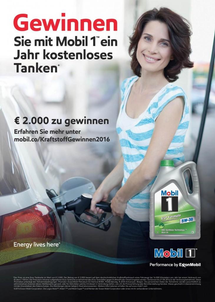 Motorsound - Kostenlos Tanken - Gewinnspiel 2016 - Mobil 1