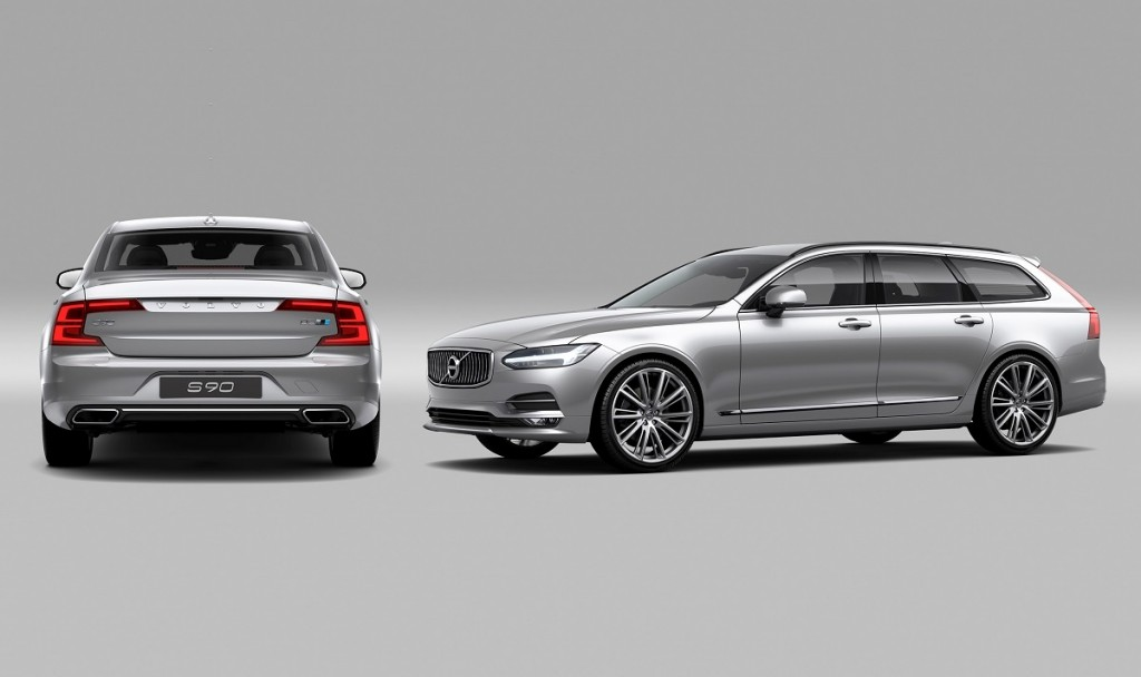 Swedish Design at it´s best: Volvo S90 (l.) und V90 (r.) im kühlen Look
