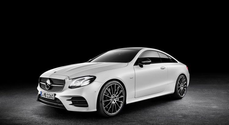 Mercedes-Benz E-Klasse Coupé; 2016; Exterieur: designo kashmirweiß magno, Edition 1, AMG Line, Night Paket ;  Mercedes-Benz E-Class Coupé; 2016; exterior: designo cashmir white magno, Edition 1, AMG Line, night package;