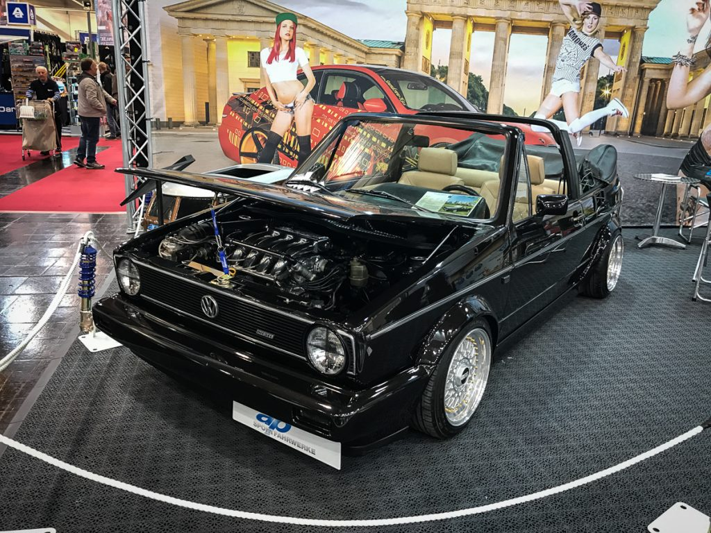 vw golf 1 cabrio tuning ap fahrwerke essen motorshow. Black Bedroom Furniture Sets. Home Design Ideas