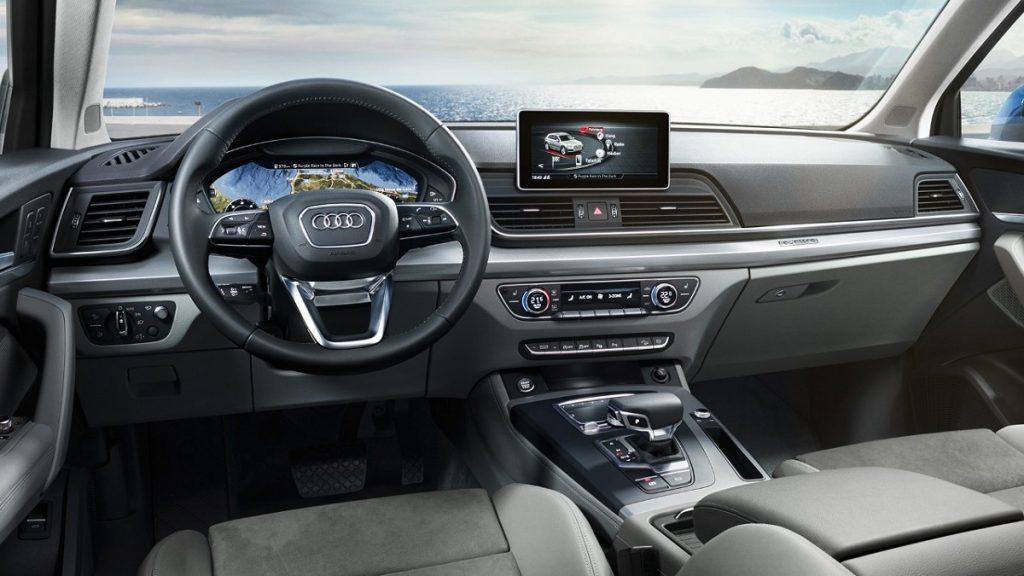 Ein Platz zum Wohlfühlen: Das Cockpit des Audi Q5