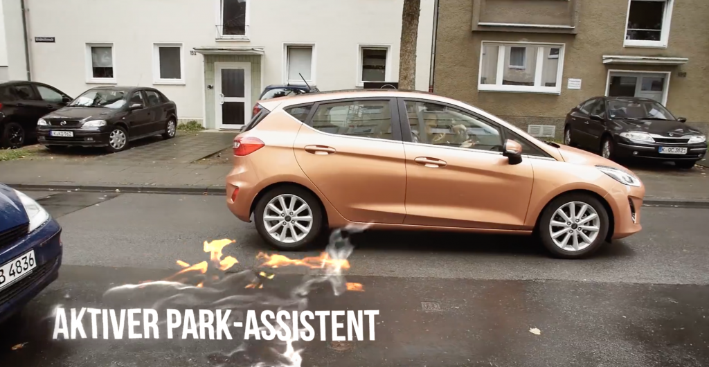 Fahrerassistenzsysteme neuer Ford Fiesta - Aktiver Park Assistent
