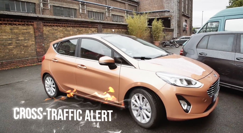 Fahrerassistenzsysteme neuer Ford Fiesta - Cross-Traffic Alert