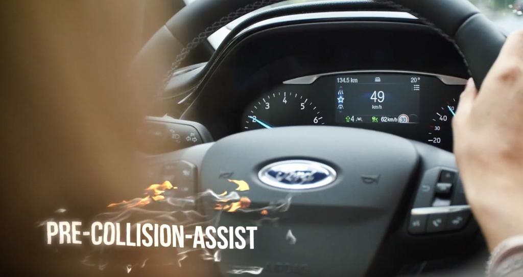 Fahrerassistenzsysteme neuer Ford Fiesta - Pre-Collision-Assist