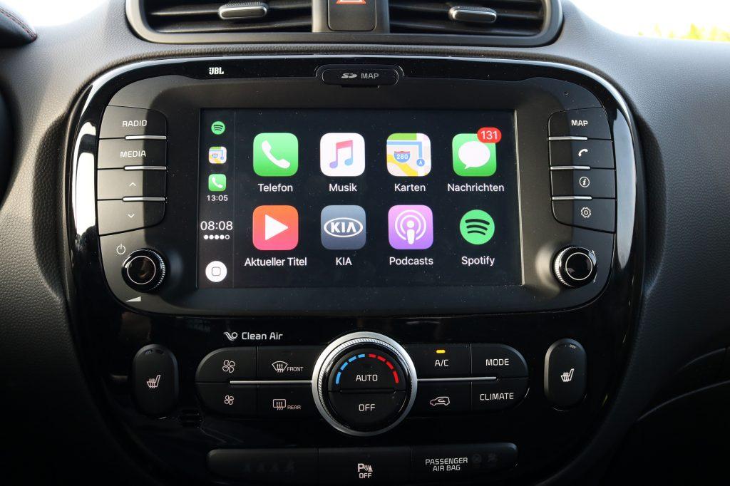 Kia Soul Fahrbericht - Apple CarPlay