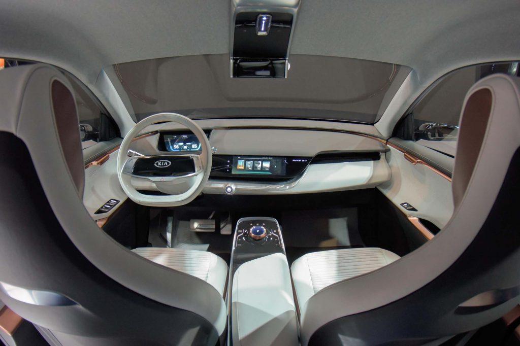 Kia Niro EV Innenraum mit Zwei-Zonen-Soundsystem - CES 2018