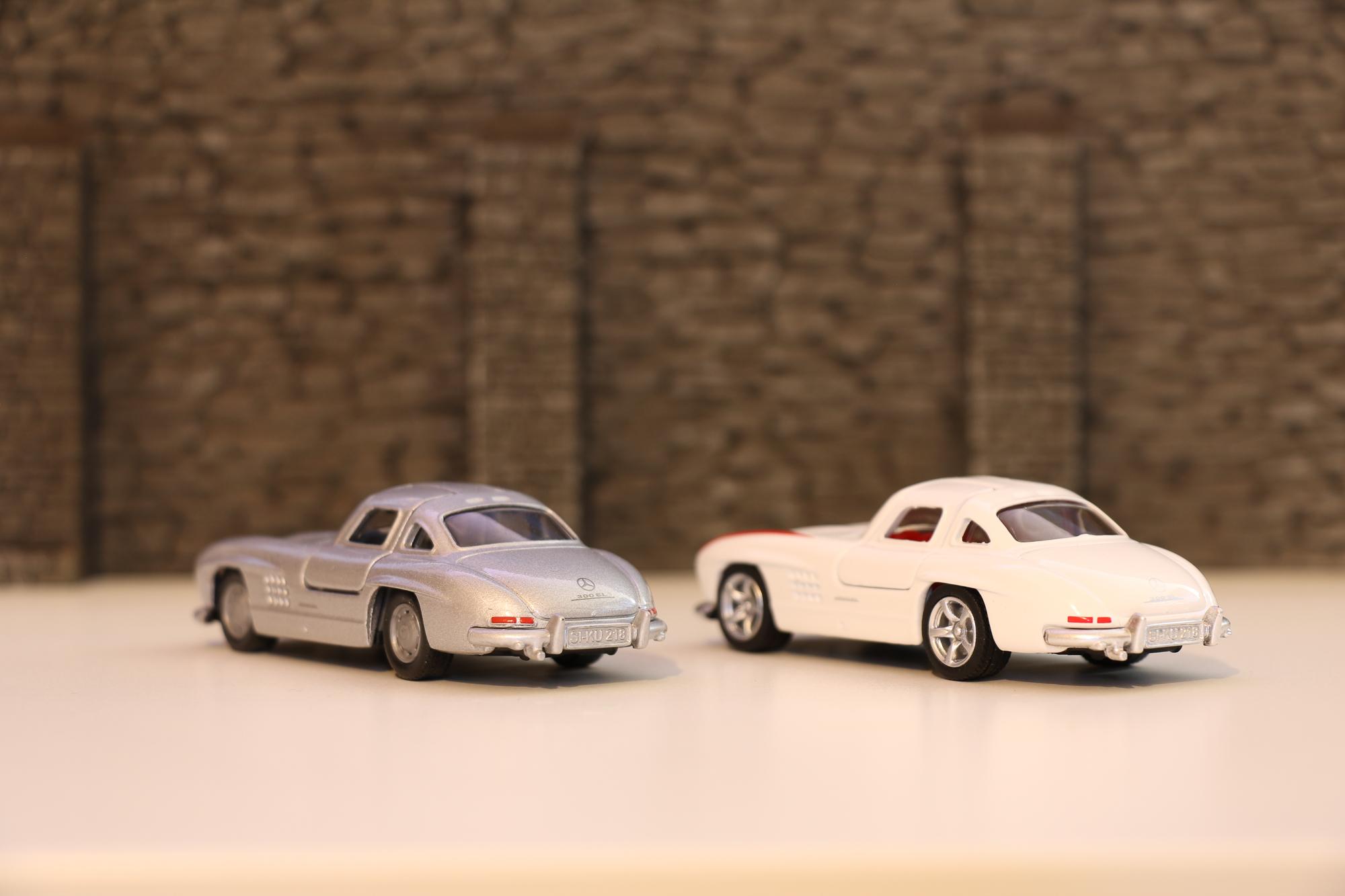 Antiquitäten & Kunst Modellauto Spielzeugauto Auto Mercedes Sl Reinweiß Und LichtdurchläSsig
