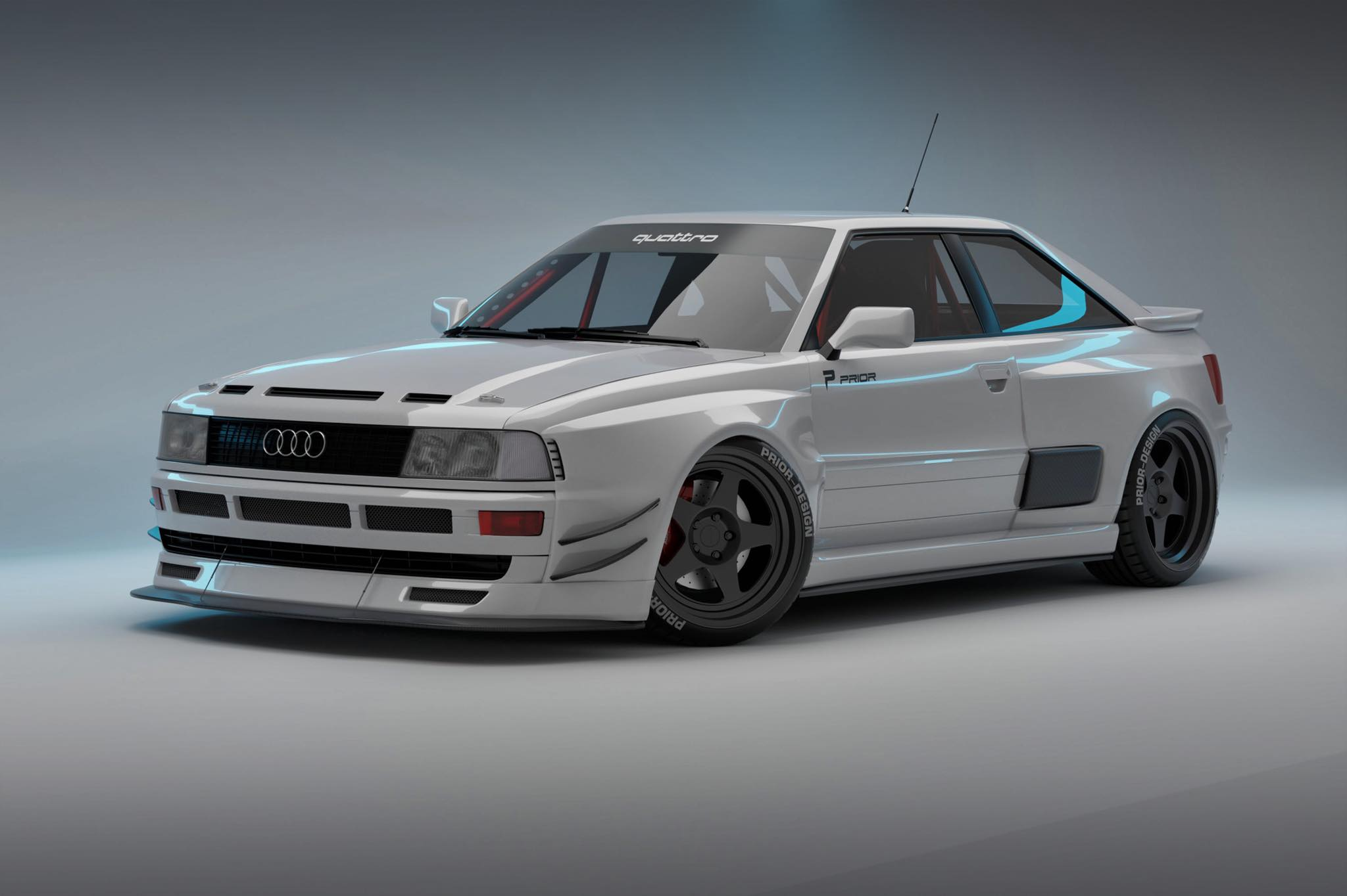 PRIOR brings wide body kit for the Audi Coupé onto the market